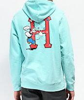 HUF x Popeye Classic Mint Hoodie