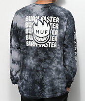 HUF x Spitfire Burn Faster Black Long Sleeve T-Shirt