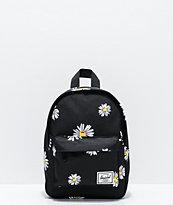 Herschel Supply Co. Classic Daisies Black Mini Backpack