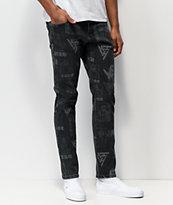 Hypland x Bleach All Over jeans de mezclilla negra