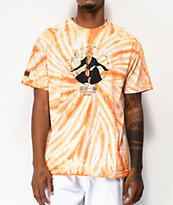 Hypland x Bleach Ichigo camiseta tie dye naranja