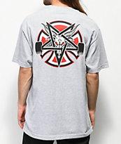 Independent x Thrasher Pentagram camiseta gris