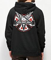 Independent x Thrasher Pentagram sudadera negra con capucha