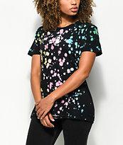 JV by Jac Vanek Humans Idiots Splatter Black T-Shirt