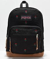 JanSport Right Pack Expressions mochila con bordados de rosas
