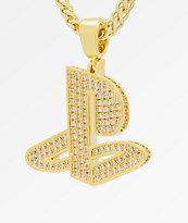 King Ice x PlayStation Classic PlayStation Logo collar de cadena de oro