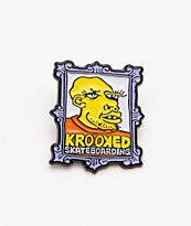 Krooked  Frame Face broche de esmalte