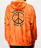Loser Machine Trench sudadera con capucha tie dye anaranjada