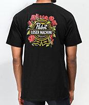 Loser Machine x PBR Full Bloom camiseta negra