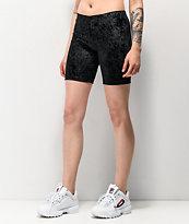Lunachix Black Velvet Bike Shorts
