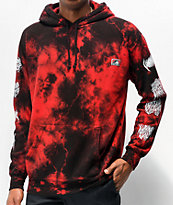 Lurking Class by Sketchy Tank Branch Logo Red Tie Dye Hoodie