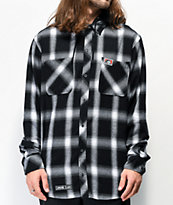 Lurking Class by Sketchy Tank Lurker Black Hooded Flannel Shirt
