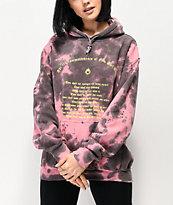 NEW girl ORDER Commandments Pink Tie Dye Hoodie