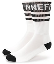 Neff Promo White & Black Crew Socks