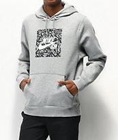 Nike SB GFX Hybrid Triangle Dark Grey Hoodie