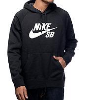 Nike SB Icon Black and White Hoodie