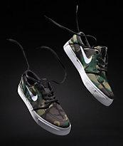 Nike SB Janoski zapatos de skate de lienzo en camuflaje y blanco