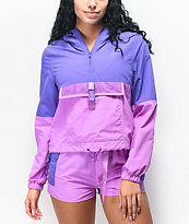 Ninth Hall Dulcie Colorblock Purple Anorak Jacket
