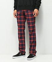 Ninth Hall Highland pantalones de tartán rojo
