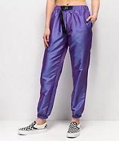 Ninth Hall Mellie Iridescent Purple Track Pants