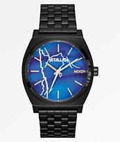 Nixon x Metallica Time Teller Ride The Lightning reloj negro
