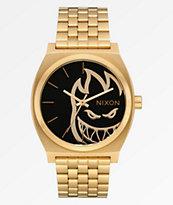 Nixon x Spitfire Time Teller Fireball reloj análogo de oro