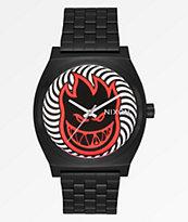 Nixon x Spitfire Time Teller Fireball reloj análogo negro