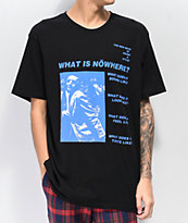 Nowhere New Wave camiseta negra