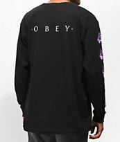 Obey Awakening Black Long Sleeve T-Shirt