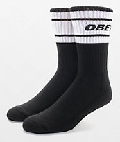 Obey Cooper Deuce calcetines en blanco y negro