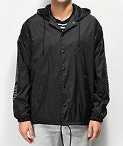 Obey Outline chaqueta entrenador negra