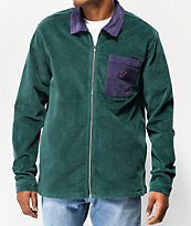 Odd Future Colorblock Green & Purple Corduroy Jacket