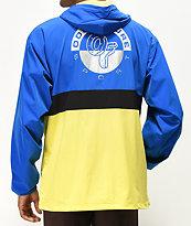 Odd Future chaqueta anorak reflectiva azul, amarilla y negra