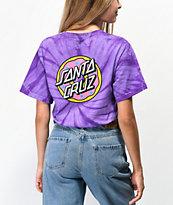 Odd Future x Santa Cruz Cyclone camiseta tie dye morada