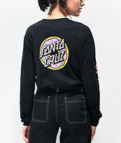Odd Future x Santa Cruz Donut camiseta negra de manga larga