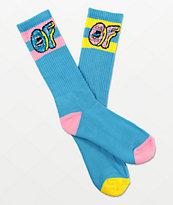 Odd Future x Santa Cruz Mix Match Blue Crew Socks