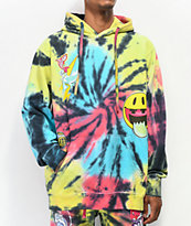 Pink Dolphin All Good Red, Yellow & Blue Tie Dye Hoodie