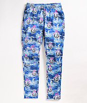Pink Dolphin Chrome 8 Ball Blue & Pink Cargo Jogger Sweatpants