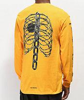 Post Malone Rib Cage camiseta amarilla de manga larga