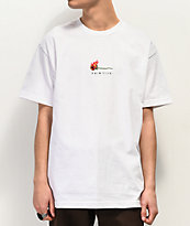 Primitive Heartbreakers Burning White T-Shirt