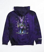 Primitive x Dragon Ball Super Beerus Purple Wash Hoodie