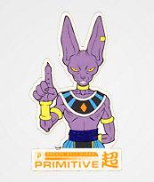Primitive x Dragon Ball Super Beerus Sticker
