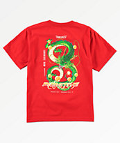 Primitive x Dragon Ball Z Boys Shenron Dirty P Red T-Shirt