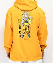 Primitive x Dragon Ball Z Goku Glow sudadera con capucha dorada