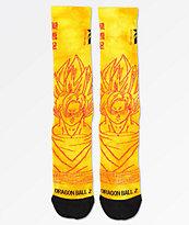 Primitive x Dragon Ball Z Goku Saiyan calcetines naranjas