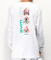 Primitive x Dragon Ball Z Majin Forms camiseta blanca de manga larga