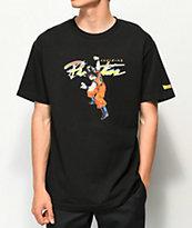 Primitive x Dragon Ball Z Nuevo Goku camiseta negra