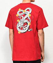 Primitive x Dragon Ball Z Shenron Nuevo camiseta roja