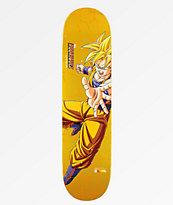"""Primitive x Dragon Ball Z Super Saiyan Goku P Rod Reflective 8.0"""" Skateboard Deck"""