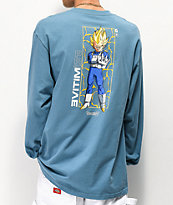 Primitive x Dragon Ball Z Vegeta Glow camiseta azul de manga larga
